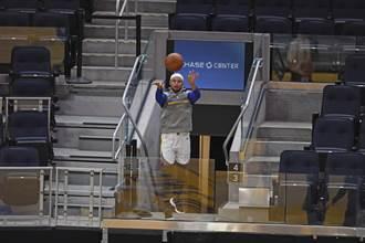NBA》柯瑞賽前大號三分球來了 這次從觀眾席