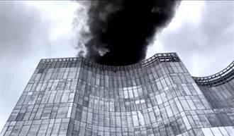 光華商場三創園區附近起火 駭人黑煙直竄天際