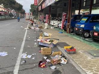 煙火放到凌晨 垃圾未處理 五福宮遶境惹民怨
