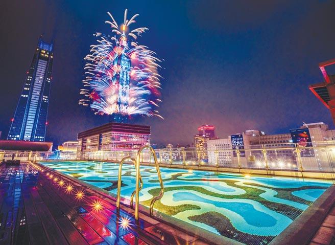 信義區是台北跨年的一級戰區,能欣賞101煙火是飯店吸客的一大誘因。圖/寒舍艾麗提供