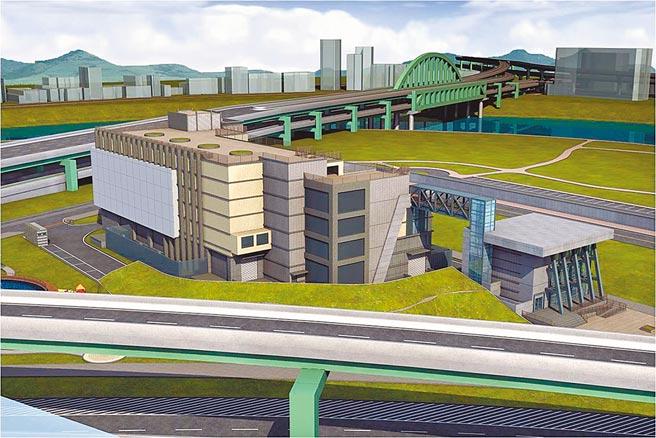 松湖超高壓變電所將採多目標用途大樓興建,圖為意象圖。(台電提供)