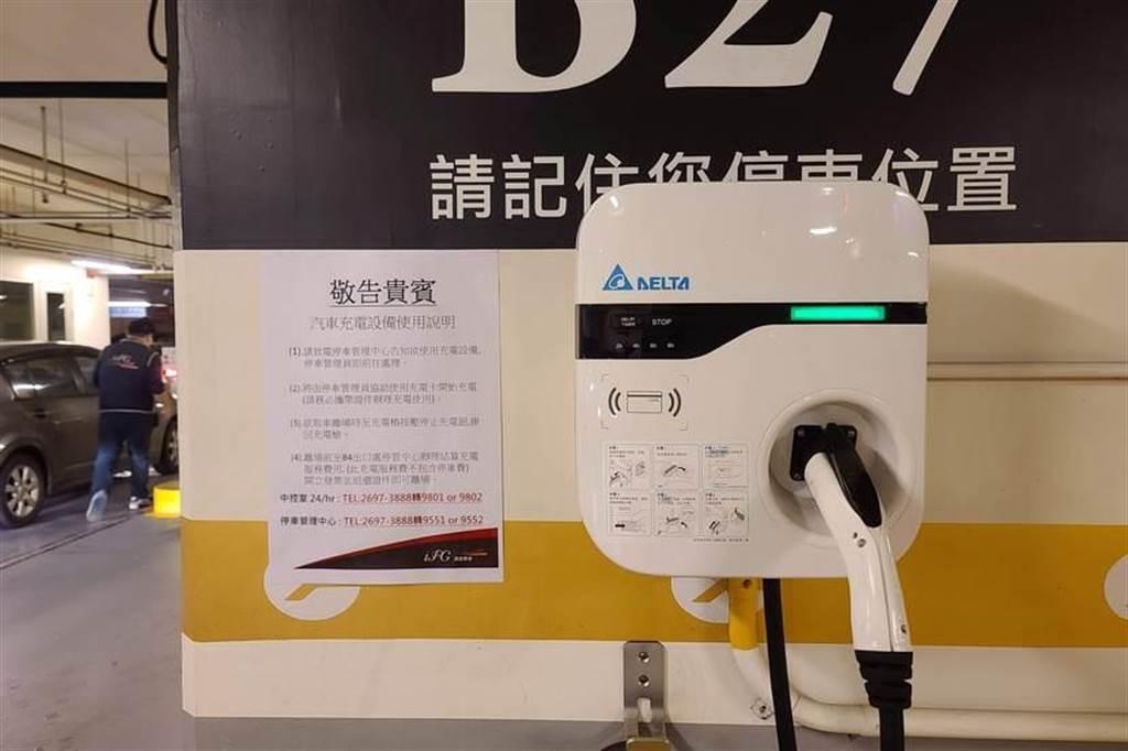 汐止遠雄廣場 IFG 停車場充電心得:11 支 J1772 充電座,每小時收費 30 元