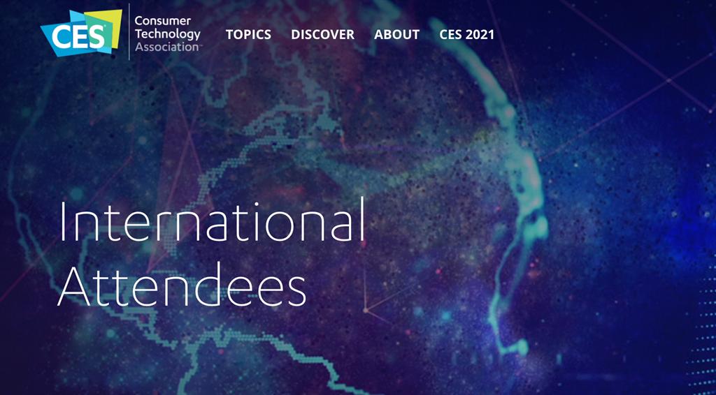 每年年初舉辦的消費性電子展CES,2021年展會因疫情緣故將以全線上的方式舉行,已開放報名。(摘自CES官網)