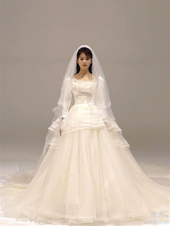 劉濤再披婚紗,被狂讚氣質絕了。(圖/翻攝自微博)