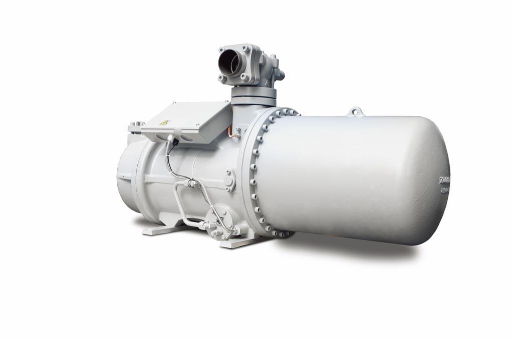 變頻變容積比螺旋式壓縮機BSR-VV外觀。圖/業者提供