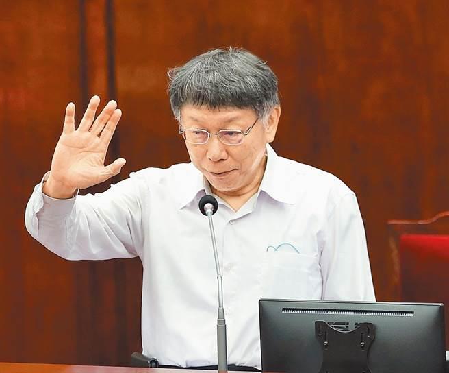台北市长柯文哲疑批地主「蟑螂」获不起诉确定。(本报资料照片)