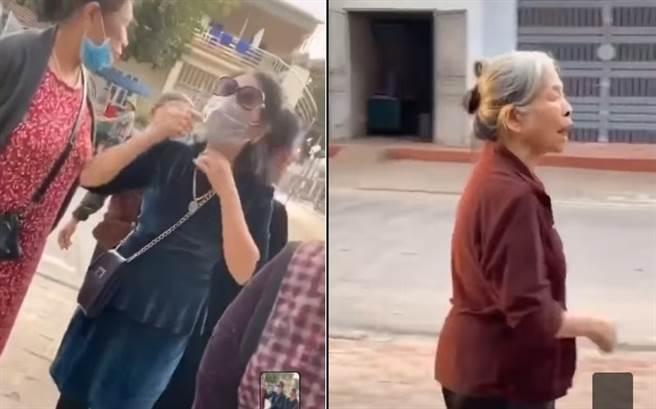 90歲翁偷吃60歲小三 正宮找閨密大街抓姦嗆:還買壯陽潤滑劑(圖片截自影片)