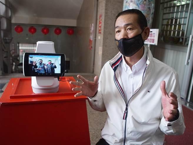 云林县北港朝天宫300年首次大法会,用科技打造全方位防疫系统。(张朝欣摄)