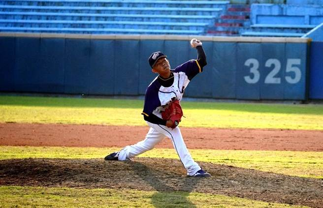 台灣電力投手巴青少用130球完投9局僅失1分。(中華棒協提供)