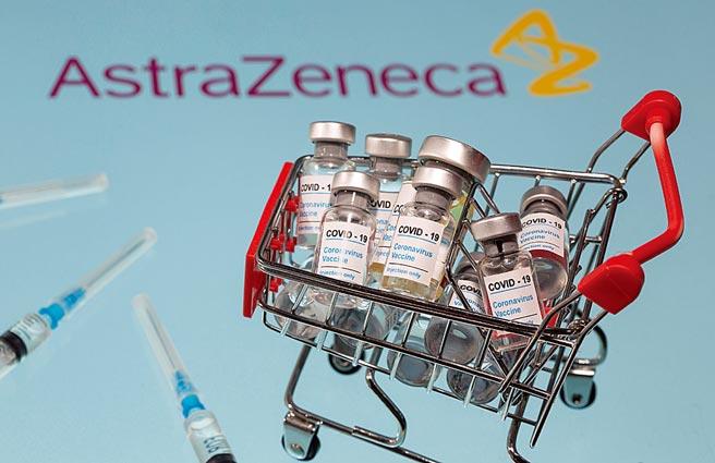 圖為AZ疫苗。(路透)