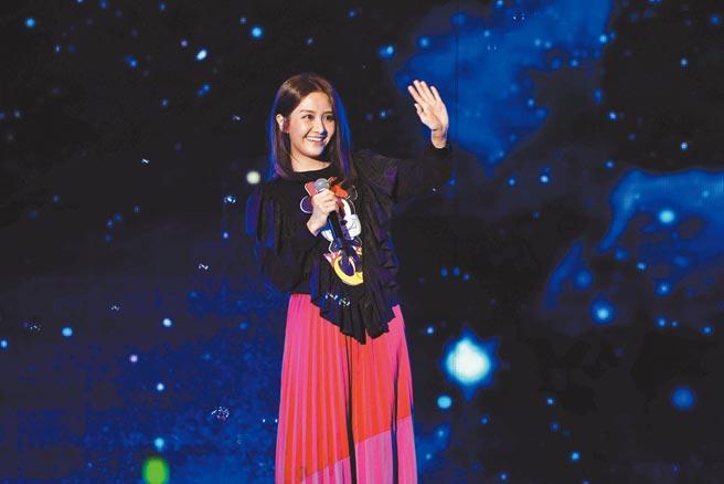 李宣榕昨帶來新歌〈好好〉首唱。(TVBS提供)