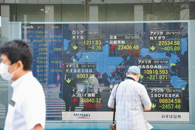 日經指數今年創下近29年新高。圖為9月11日,東京街頭一處顯示股指信息的螢幕。(新華社)