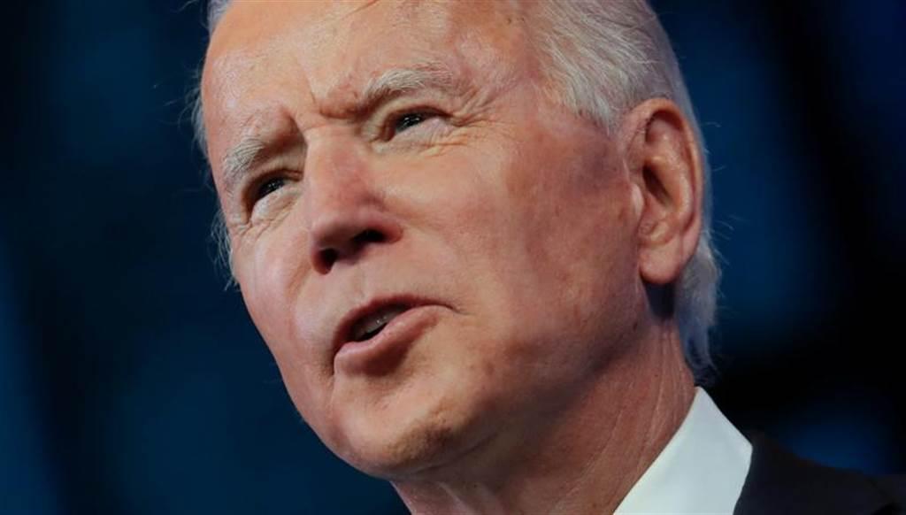 美国总统当选人拜登在选举人投票确定胜选后,12月14日首度向全国发表电视演说。(路透)(photo:ChinaTimes)