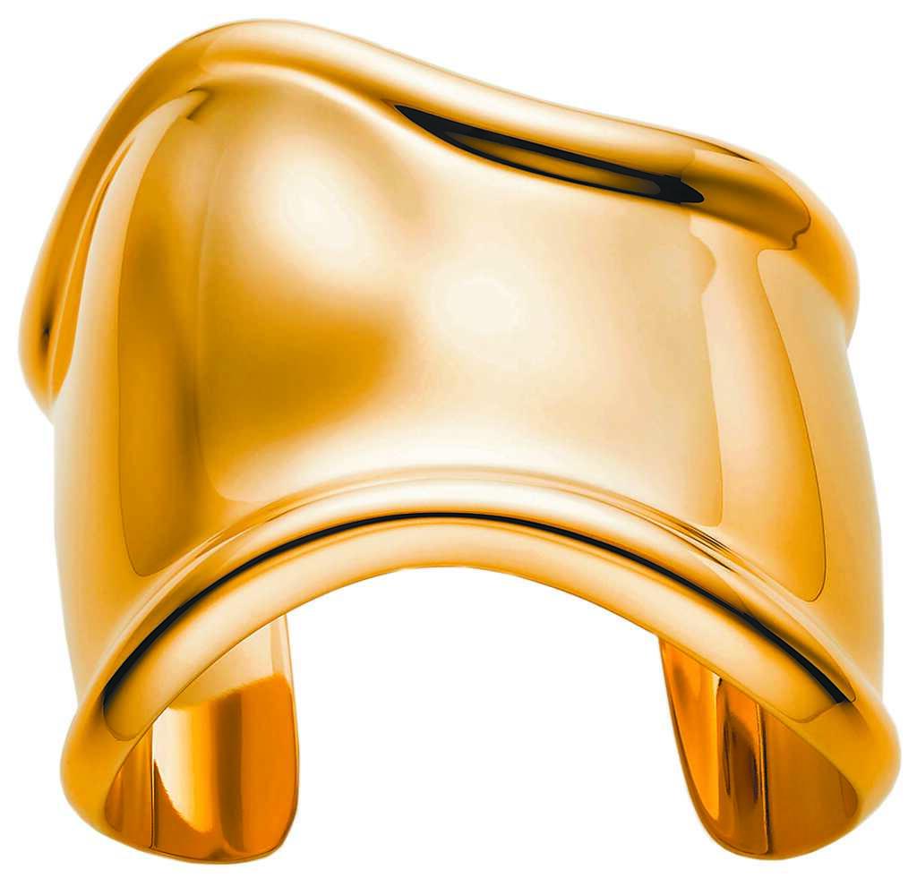 Tiffany Elsa Peretti Bone Cuff手鐲,56萬5000元。(Tiffany提供)