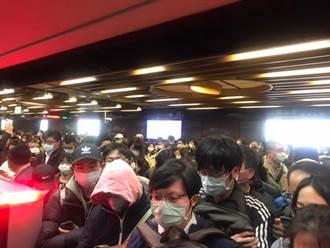 北捷列車傳燒焦味 1200人被請下車!擠爆龍山寺站