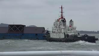 陸船漂流金門海域 兩岸聯手安全拖離