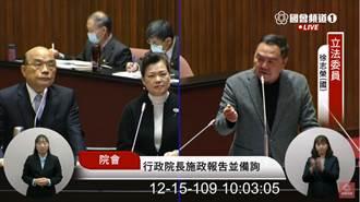 藍委徐志榮質詢蘇貞昌 突開唱:咿呀咿呀喲