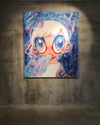 奈良藝術家住舍 大眼娃娃為動物請命