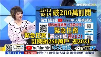 中天轉戰YT「5天斗內數字」曝 網紅爆:穩佔台灣冠軍