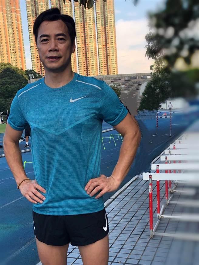 運動員出身的崔錦棠仍維持運動習慣。(圖/取材自崔錦棠 Tony臉書)
