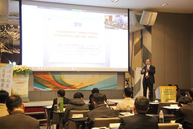 前教育部長吳清基鼓勵兩岸技職教育體系,儲備工業4.0高科技人才。(記者洪肇君攝)