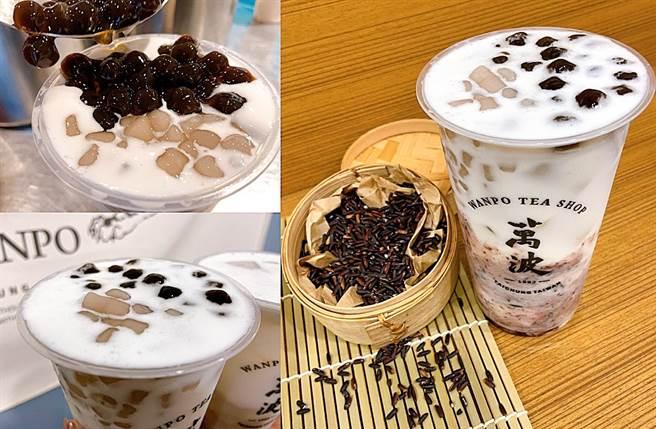 「紫米芋芋椰奶」以南洋甜點摩摩喳喳為概念去研發。(圖/楊婕安攝)