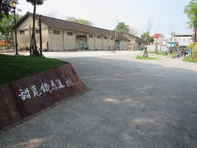 新營鐵道地景公園及糖鐵自行車道縫合計畫獲獎連連。(台南市都發局提供/曹婷婷台南傳真)