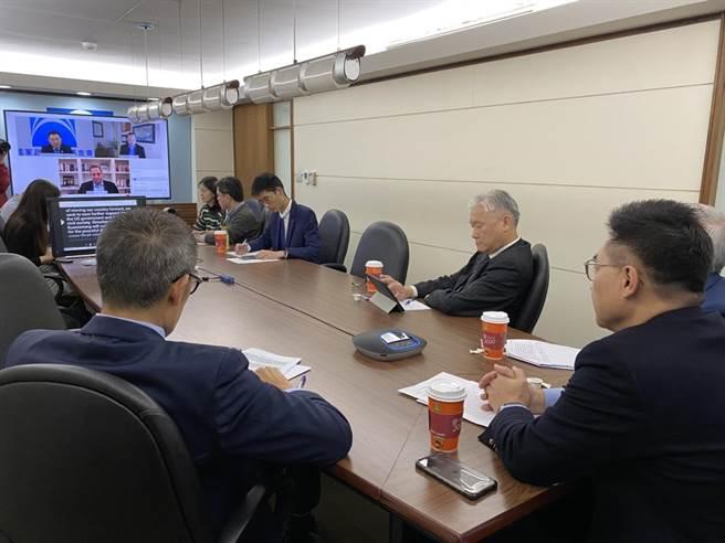 國民黨智庫今天再次舉辦「中華民國-美國線上論壇」。(國家政策研究基金會提供)