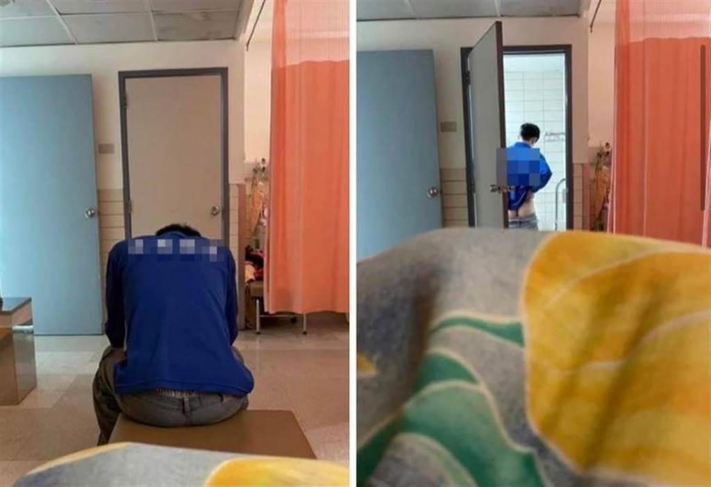 民眾PO文指出,花蓮某搬家公司曾姓員工深夜在醫院女性病房如廁時,不但不將門關上,露出屁股及下體,質疑「有何居心」。(羅亦晽翻攝「花蓮同鄉會」臉書社團)