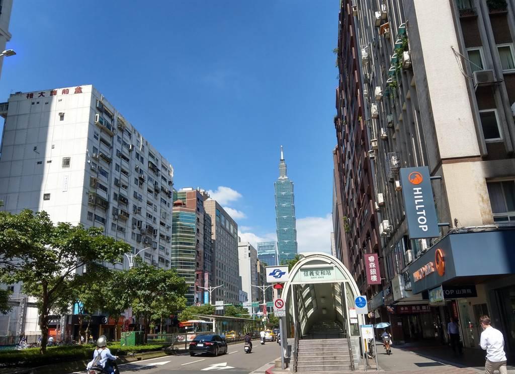 近十年以來,台北市一線豪宅聚落重新洗牌。(葉思含攝)