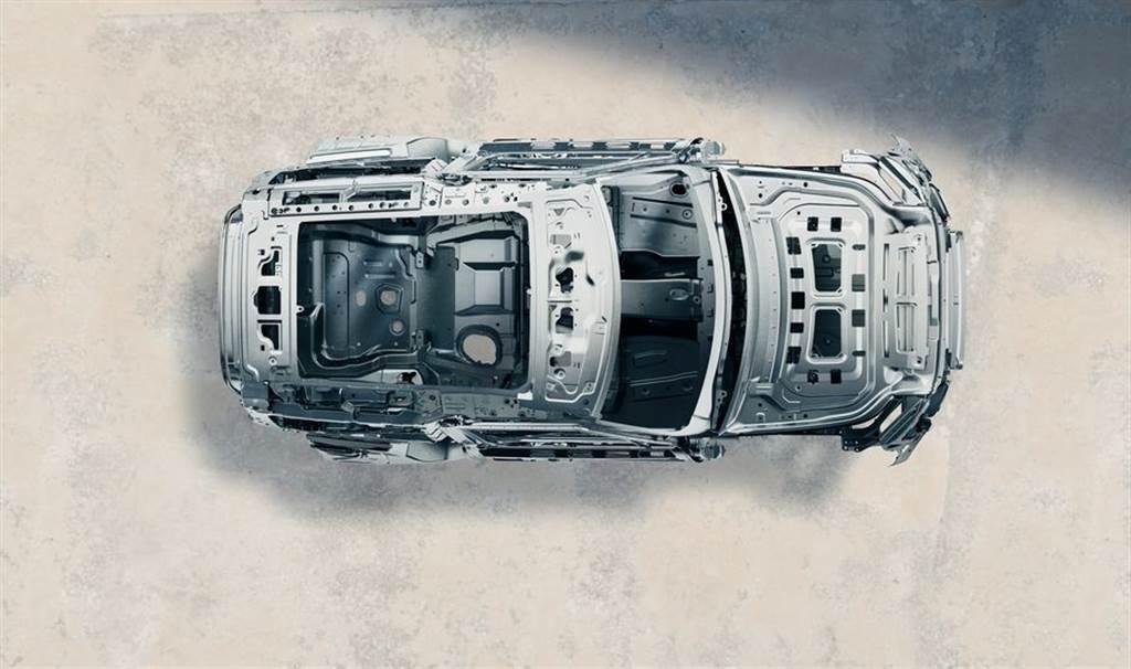 全新世代 LAND ROVER DEFENDER採用全新D7x平台全鋁合金單體式車體結構,賦予每位乘客強悍完善的車體安全防護。