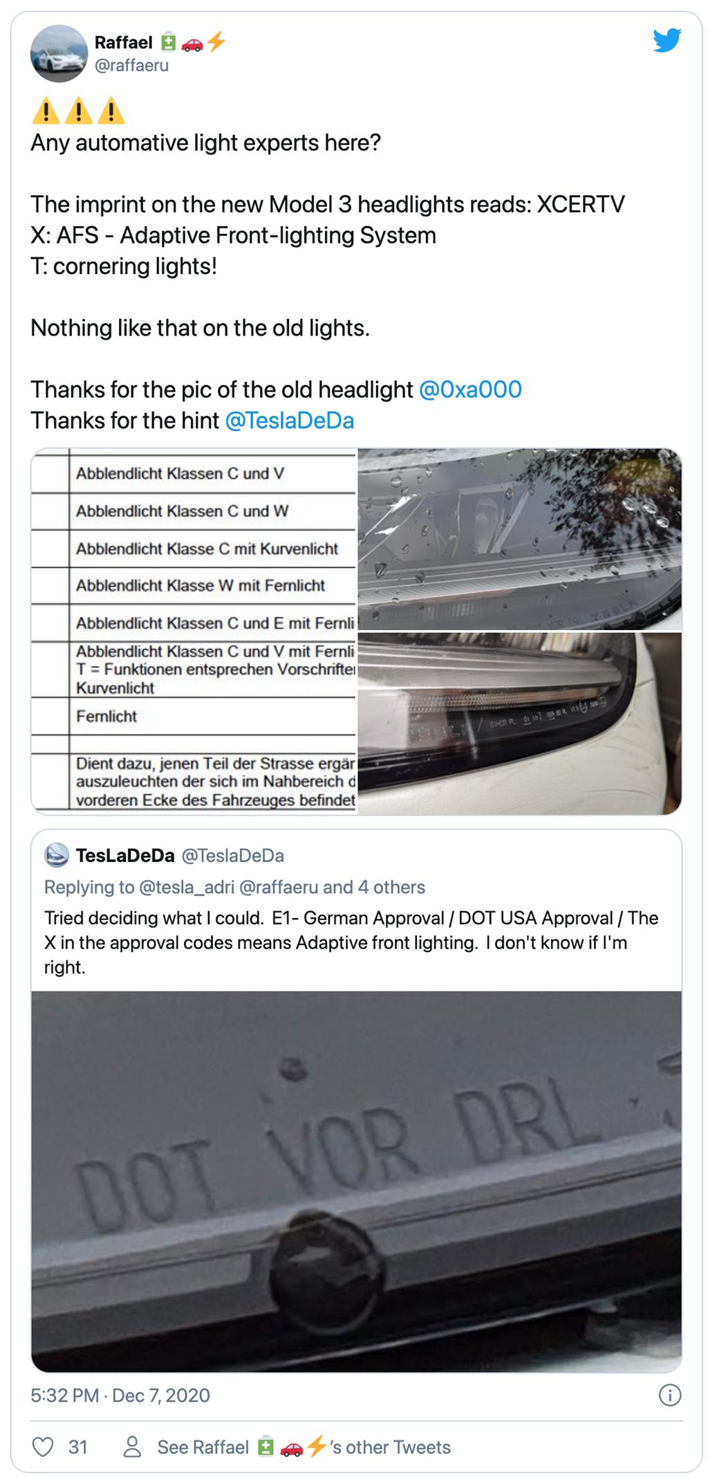 Model 3 可能偷偷增加主動頭燈轉向照明系統,未來透過 OTA 付費解鎖?