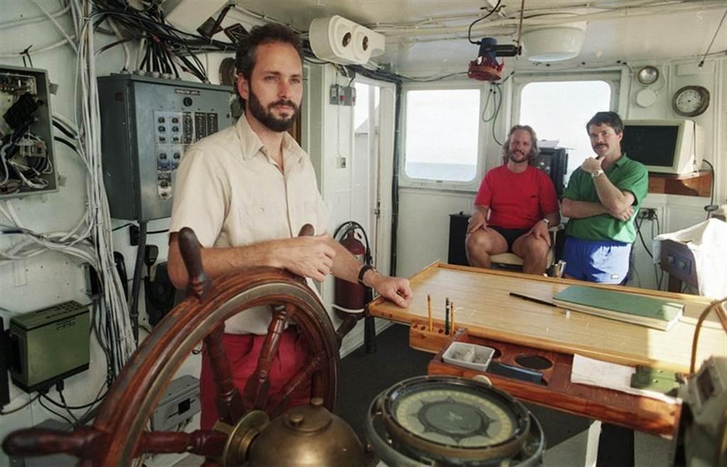 1988年,年轻的汤普森在南卡罗来纳州海岸外约260公里处,找到中美洲号沉船,它沉没在海下2.2公里的深海。(图/美联社)(photo:ChinaTimes)