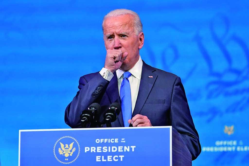 美國選舉人團昨投票,民主黨籍拜登獲302張選票,跨越當選門檻,確認成為下一任美國總統。(美聯社)