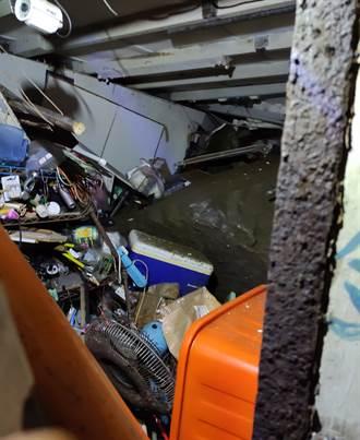 連日豪雨山壁坍塌落巨石 瑞芳2民宅遭砸爛1老婦受傷送醫