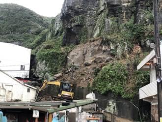 瑞芳山坡岩壁崩落 仍有5顆大石頭殘留邊坡