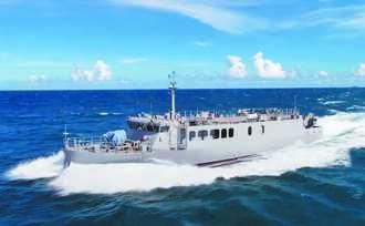 全球首創技術 快速布雷艇交艇!國造航母殺手 量產型首艘 塔江艦下水
