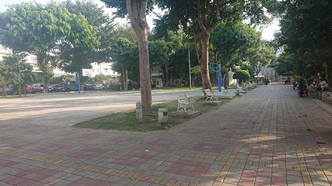 台南市这处公园发生阿婆遭猥亵事件。(程炳璋摄)