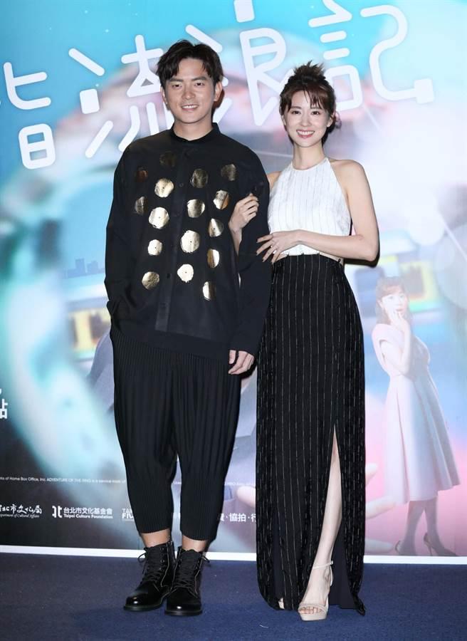 宥勝、林予晞出席《戒指流浪記》特映會。(石智中攝)