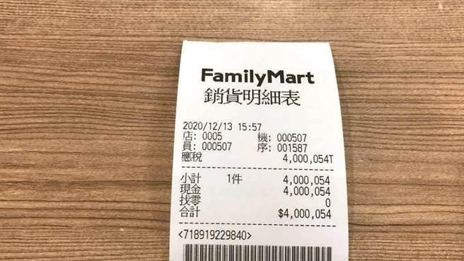 店員失誤打出400萬54元的發票(圖/中時資料照)