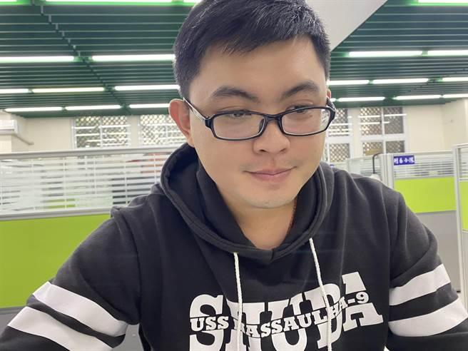 偵查隊長林子翔表示,吳柏辰是一名認真又暖心的好警察(戴上容攝)
