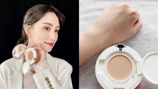 怡麗絲爾全新推出聚焦粉霜,兼顧保溼和無瑕,適合秋冬肌膚較乾燥的人使用。(邱映慈攝)