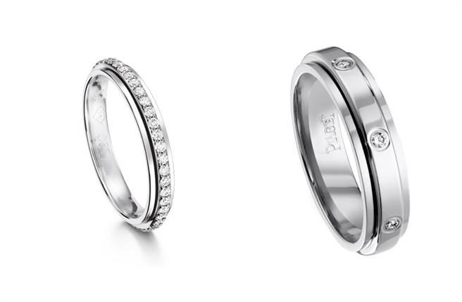 许孟哲与赵孟姿的婚戒亦是世家最具标志性的经典系列「Possession」。(图/品牌提供)