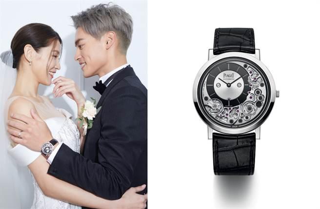许孟哲当天配戴的腕表是经典的超薄系列「Altiplano Ultimate Automatic 910P 18K白金自动上炼超薄腕表」。(图/品牌提供)