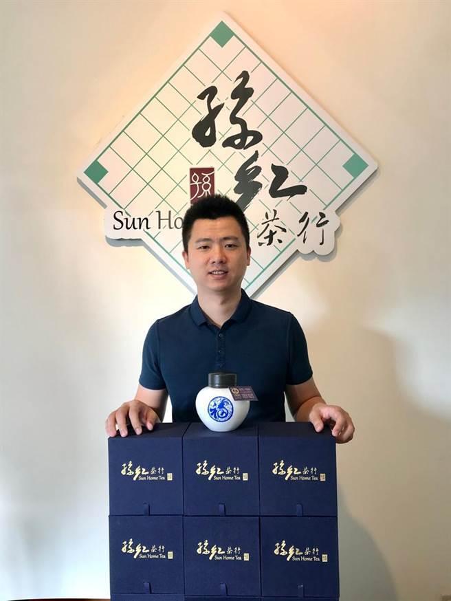 孫于翔說,已經連續4年榮獲三星獎肯定的孫紅茶行,新推出「飛躍羚羊」向台灣防疫成就致敬!圖/孫紅茶行提供