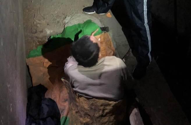 邱男失蹤40天,動員大批人力搜索卻一無所獲,警方聽從建議,連拜3廟後立即找到人,且身體無大礙,堪稱奇蹟。(警方提供/王文吉台中傳真)