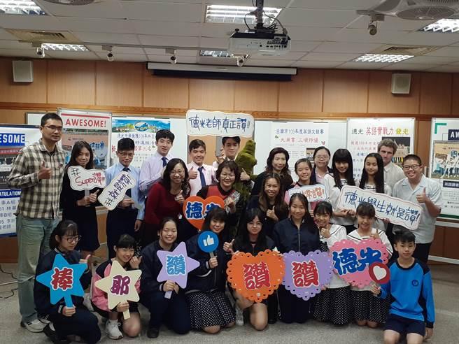 德光中學參加「外交小尖兵-英語種子選拔賽」,勇奪全國第3名。(曹婷婷攝)