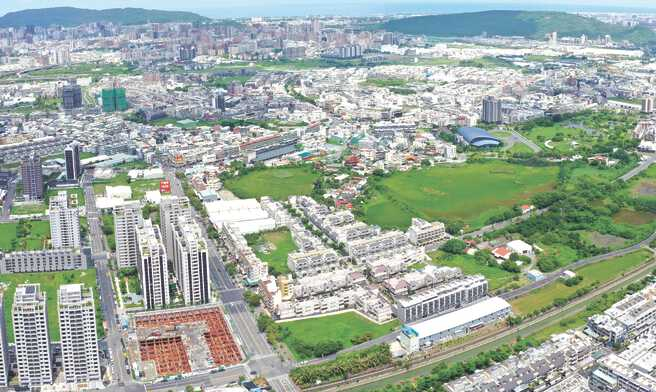 位於仁武區的高雄公辦第100期市地重劃,完工之後可釋出10.4公頃建築用地。圖/高雄地政局提供