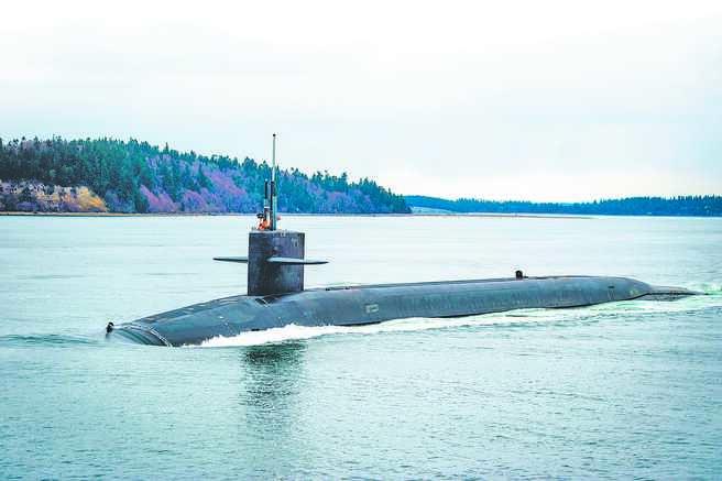 美國俄亥俄級彈道飛彈潛艇。(取自美國海軍官網)
