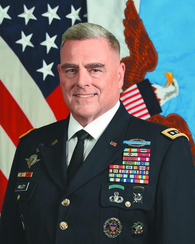 美軍參謀長聯席會議主席馬克‧米利。(取自美軍參謀長聯席會議官網)